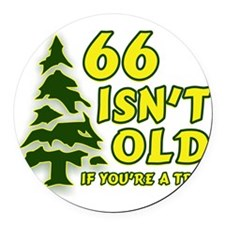 66 Isn't Old, If You're A Tre Round Car Magnet