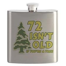Cute 72nd birthday Flask