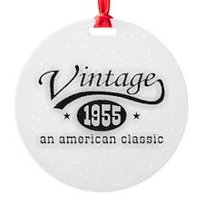 Vintage 1955 Birthday Ornament