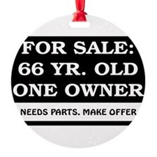 For Sale 66 year old Birthday Ornament