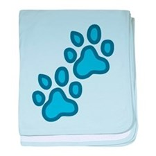Dog Paw Prints baby blanket
