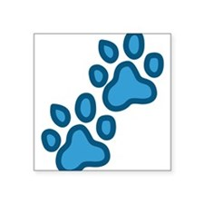 "Dog Paw Prints Square Sticker 3"" x 3"""