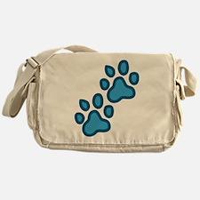 Dog Paw Prints Messenger Bag