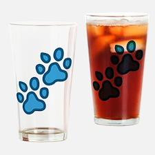 Dog Paw Prints Drinking Glass