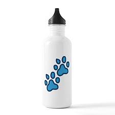 Dog Paw Prints Sports Water Bottle