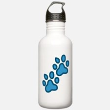 Dog Paw Prints Water Bottle