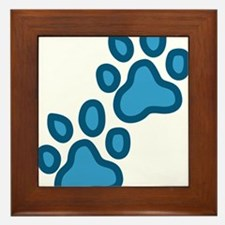 Dog Paw Prints Framed Tile