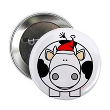 """Holiday Cow 2.25"""" Button (10 pack)"""