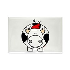Holiday Cow Rectangle Magnet (100 pack)