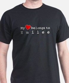 My Heart Belongs To Emilee T-Shirt