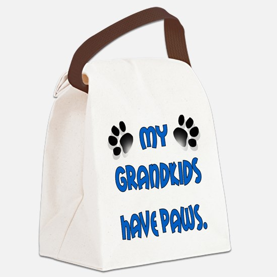 My Grandkids Have Paws Canvas Lunch Bag