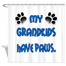 My Grandkids Have Paws Shower Curtain