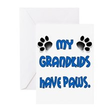 My Grandkids Have Paws Greeting Cards (Pk of 10)