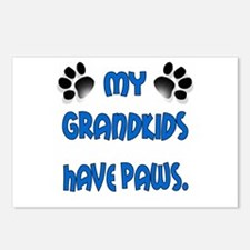 My Grandkids Have Paws Postcards (Package of 8)