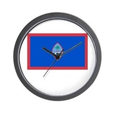 Guam Flag Picture Wall Clock