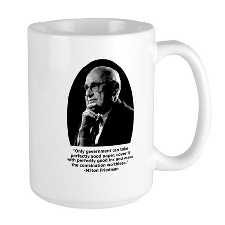 Friedman Paper Quote Large Mug