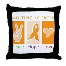 Peace Cure Love Throw Pillow
