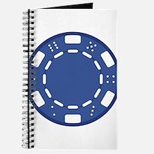 Blue Poker Chip Journal