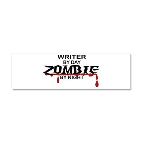 Writer Zombie Car Magnet 10 x 3