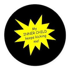 Inner Child Round Car Magnet