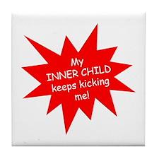 Inner Child (red) Tile Coaster