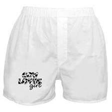 cow lovin girl Boxer Shorts