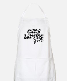 cow lovin girl BBQ Apron