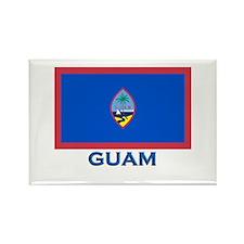 Guam Flag Gear Rectangle Magnet