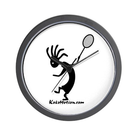 Kokopelli Tennis Player Wall Clock