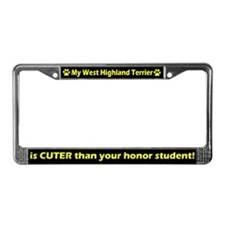Honor West Highland Terrier License Plate Frame