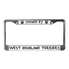 Owned by West Highland Terriers License Plate Frme