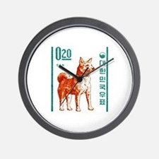 1962 Korea Jindo Dog Postage Stamp Wall Clock