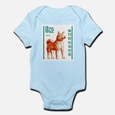 1962 Korea Jindo Dog Postage Stamp Infant Bodysuit