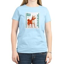 1962 Korea Jindo Dog Postage Stamp T-Shirt
