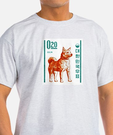 1962 Korea Jindo Dog Postage Stamp T-Shirt