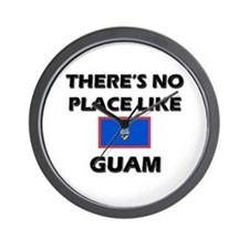 There Is No Place Like Guam Wall Clock