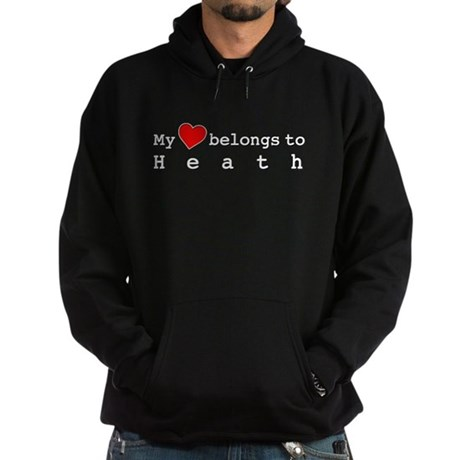 My Heart Belongs To Heath Hoodie (dark)