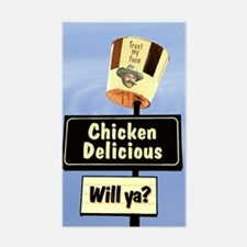 Chicken Delicious willya? Rectangle Decal