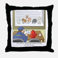 Dog Lineup Throw Pillow
