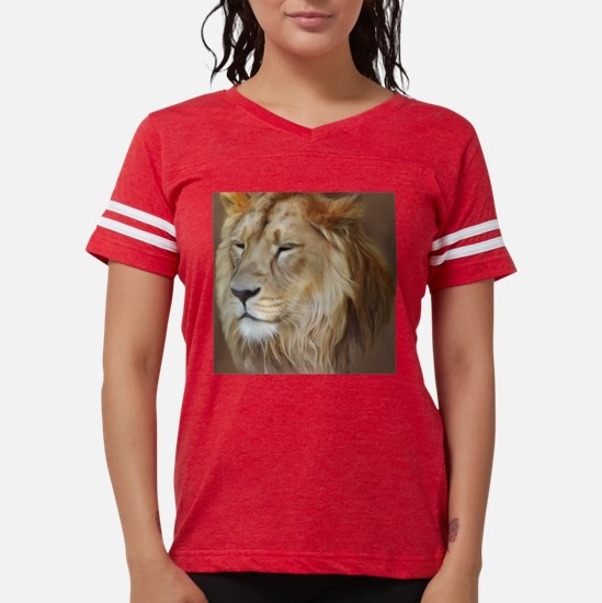 Painting Lion Womens Football Shirt