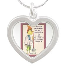 MAIDladyMESSAGEfrom GOD.png Silver Heart Necklace