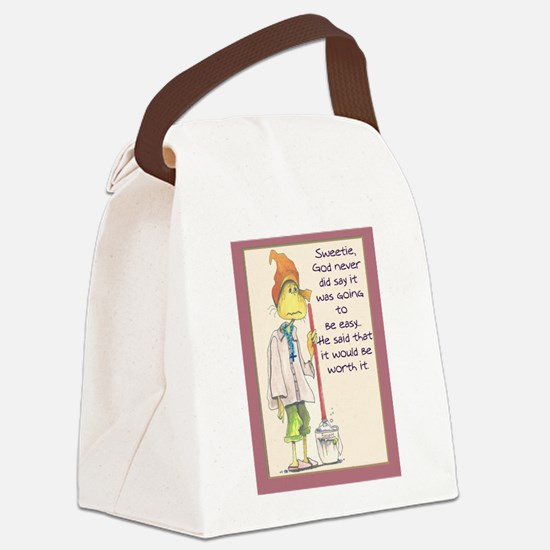 MAIDladyMESSAGEfrom GOD.png Canvas Lunch Bag