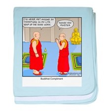 Buddhist Compliment baby blanket