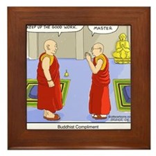 Buddhist Compliment Framed Tile