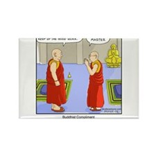 Buddhist Compliment Rectangle Magnet