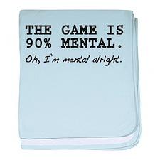 """""""Mental Game"""" baby blanket"""