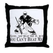 """""""Can't Beat Me"""" Throw Pillow"""