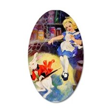 Alice Falls Down The Rabbit Wall Decal