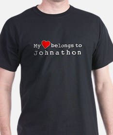 My Heart Belongs To Johnathon T-Shirt