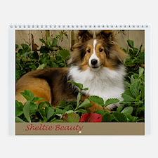 Sheltie Beauty Wall Calendar